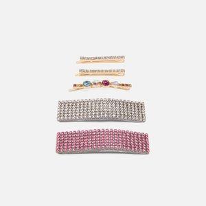Zara sparkling hair clips